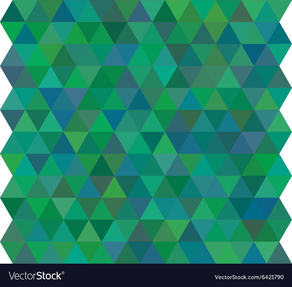 Green triangle geometric mosaic card vector image