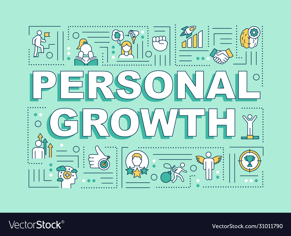 Personal Growth Word Concepts Banner Royalty Free Vector