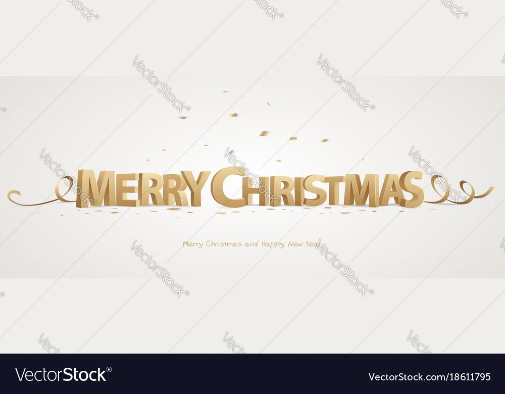 3d merry christmas
