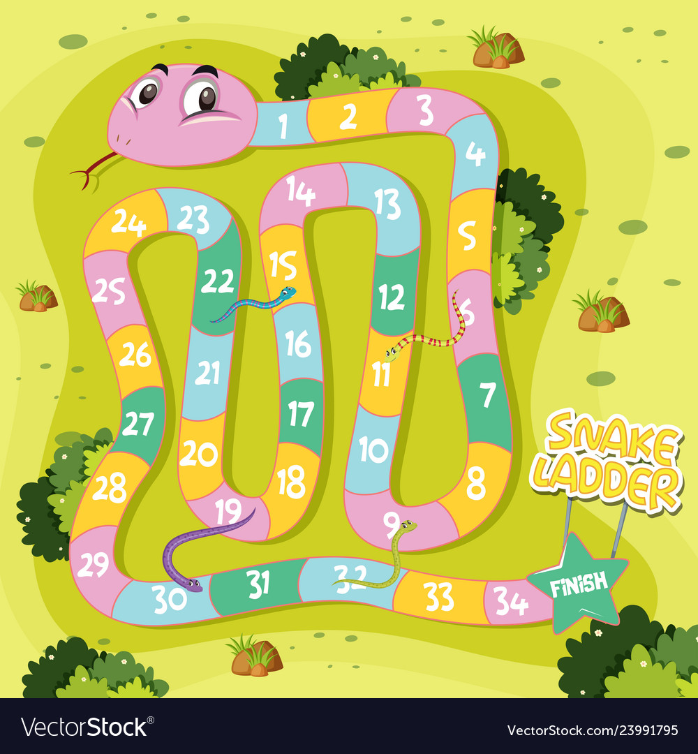 Snakes and Ladders Board Game Clip Art by Allison Fors   TpT