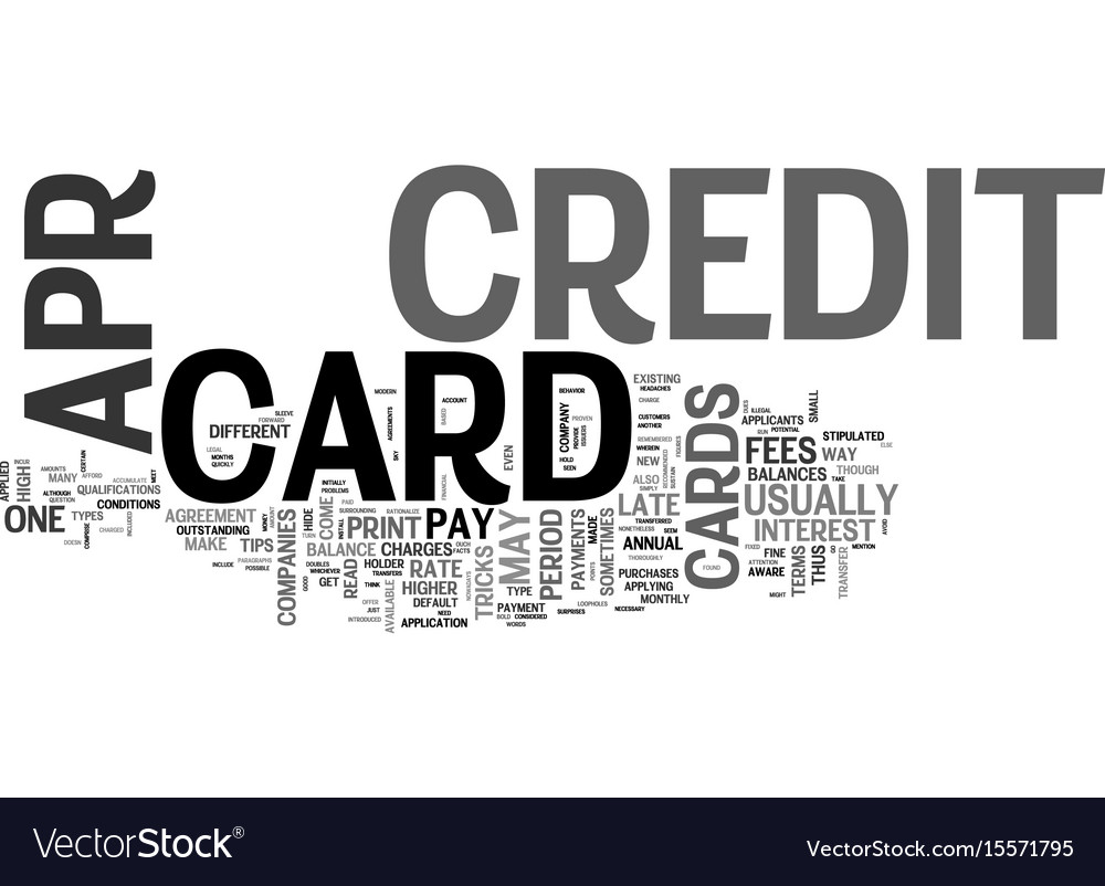 Apr credit cards ok what s the catch text word