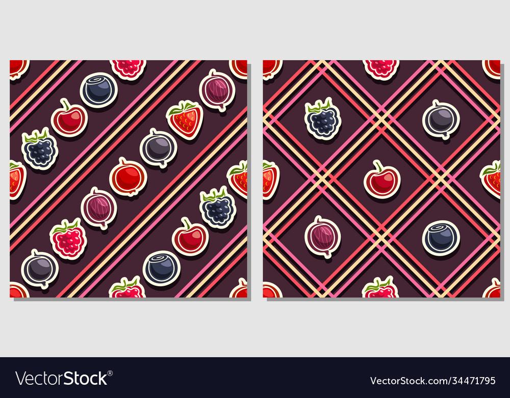 Berry seamless patterns