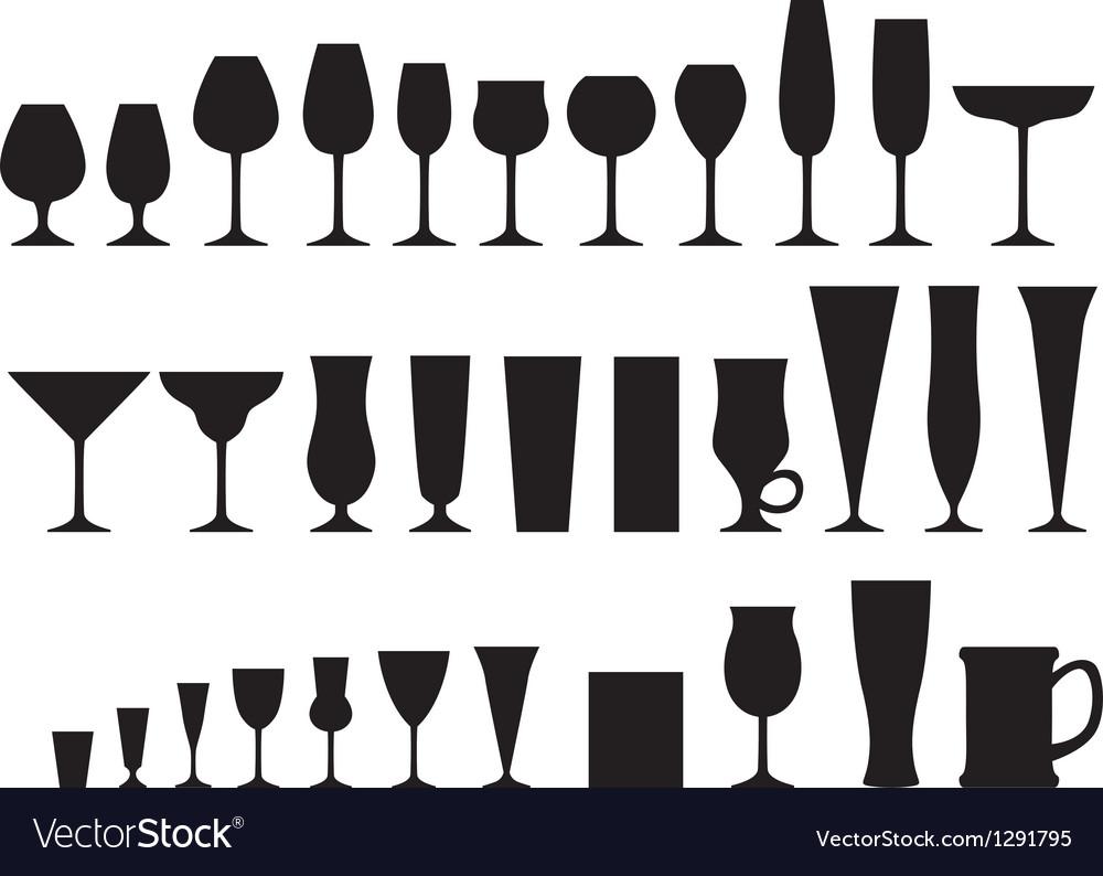 Glass goblets vector image