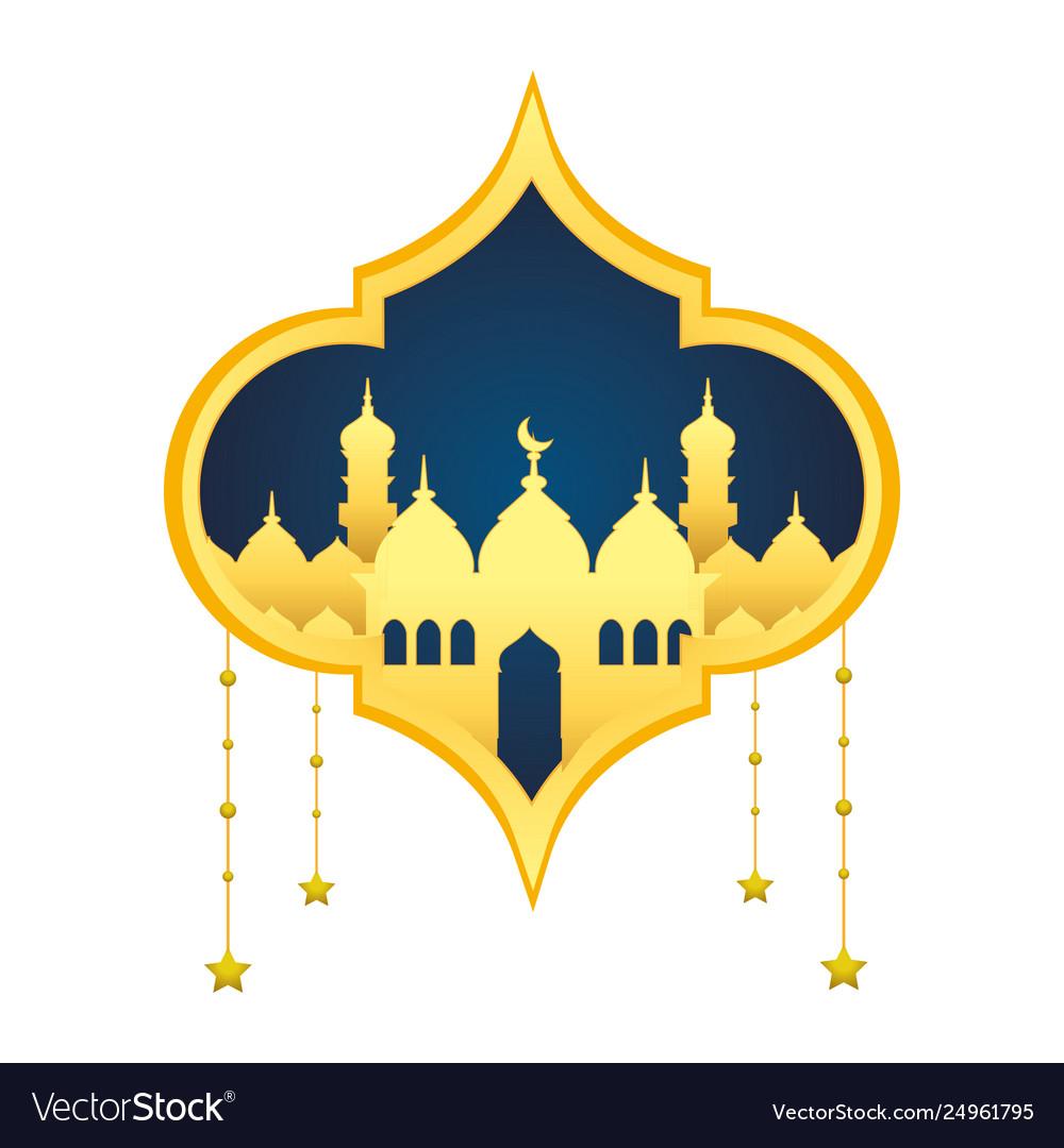 islamic building icon royalty free vector image vectorstock