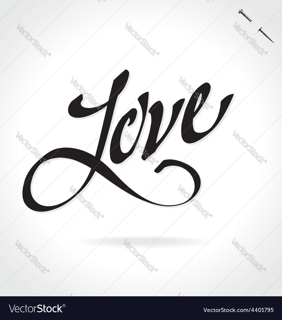 LOVE hand lettering