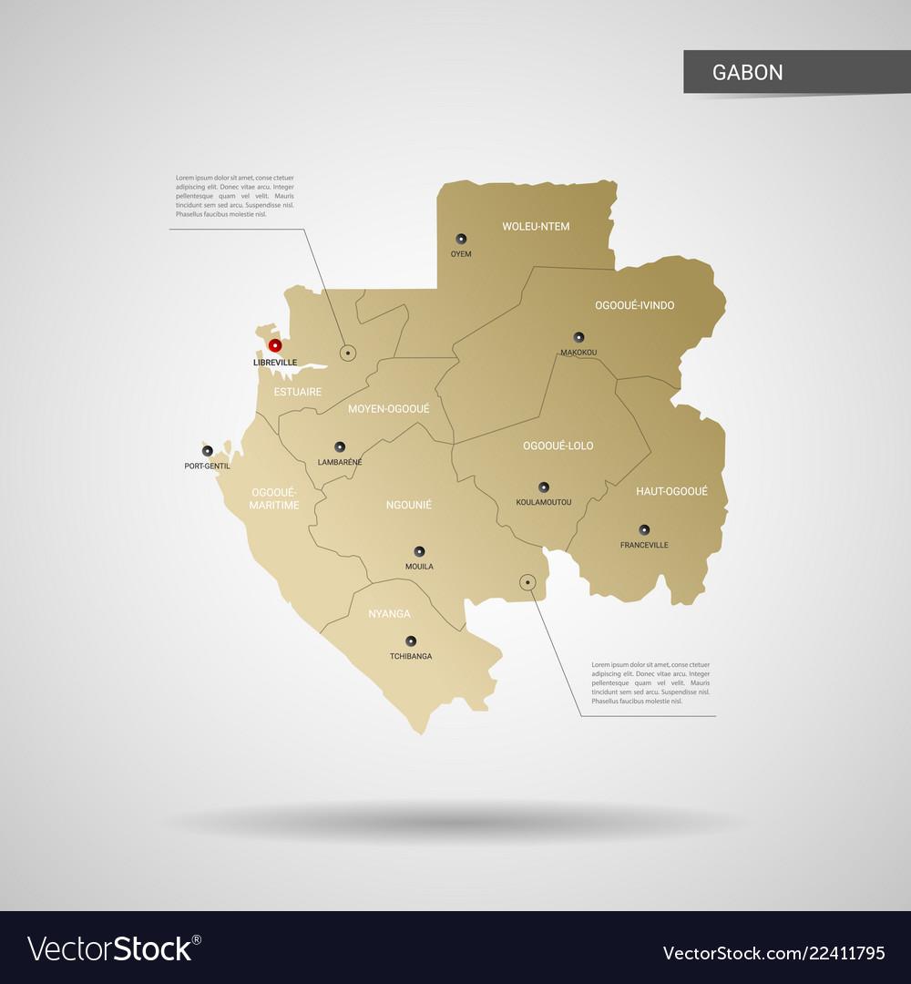 Gabon World Map.Stylized Gabon Map Royalty Free Vector Image Vectorstock