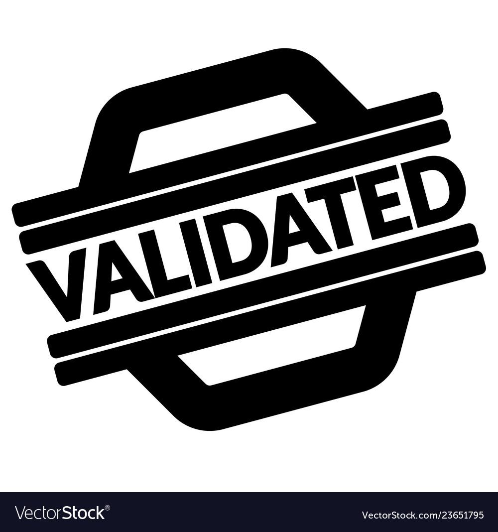 Validated Black Stamp Vector Image