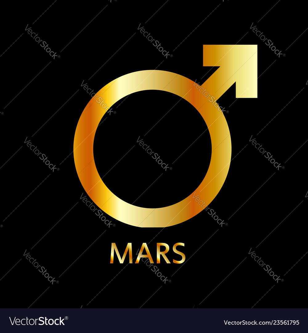 Zodiac and astrology symbol of the planet mars