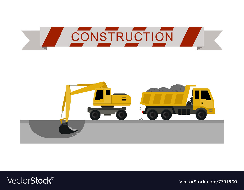 Construction Machines Icons Royalty Free Vector Image