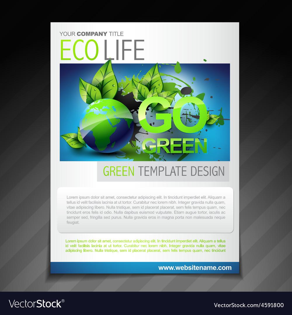 Eco Friendly Flyer Brochure Design Poster Template