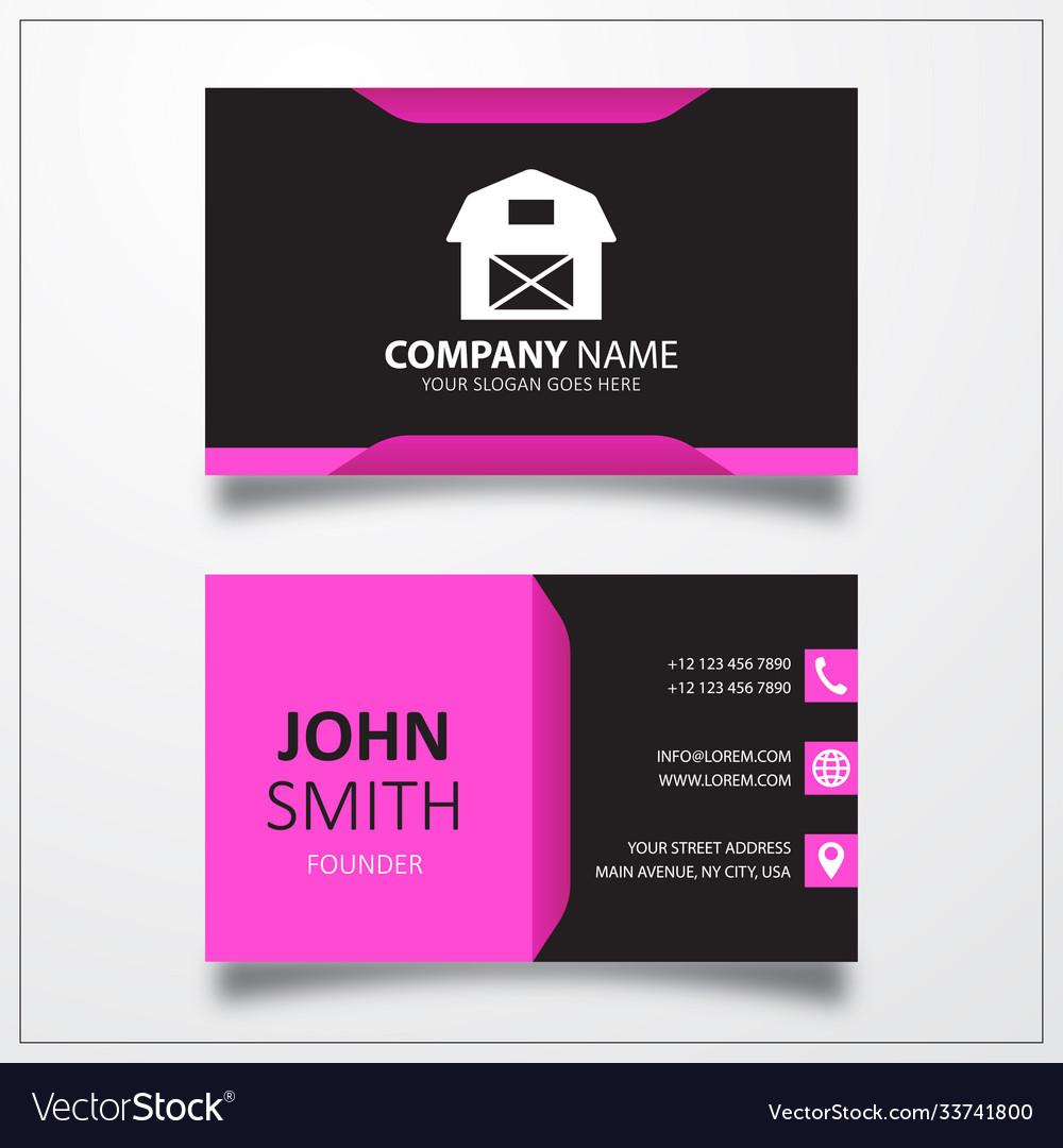 Farmhouse icon business card template