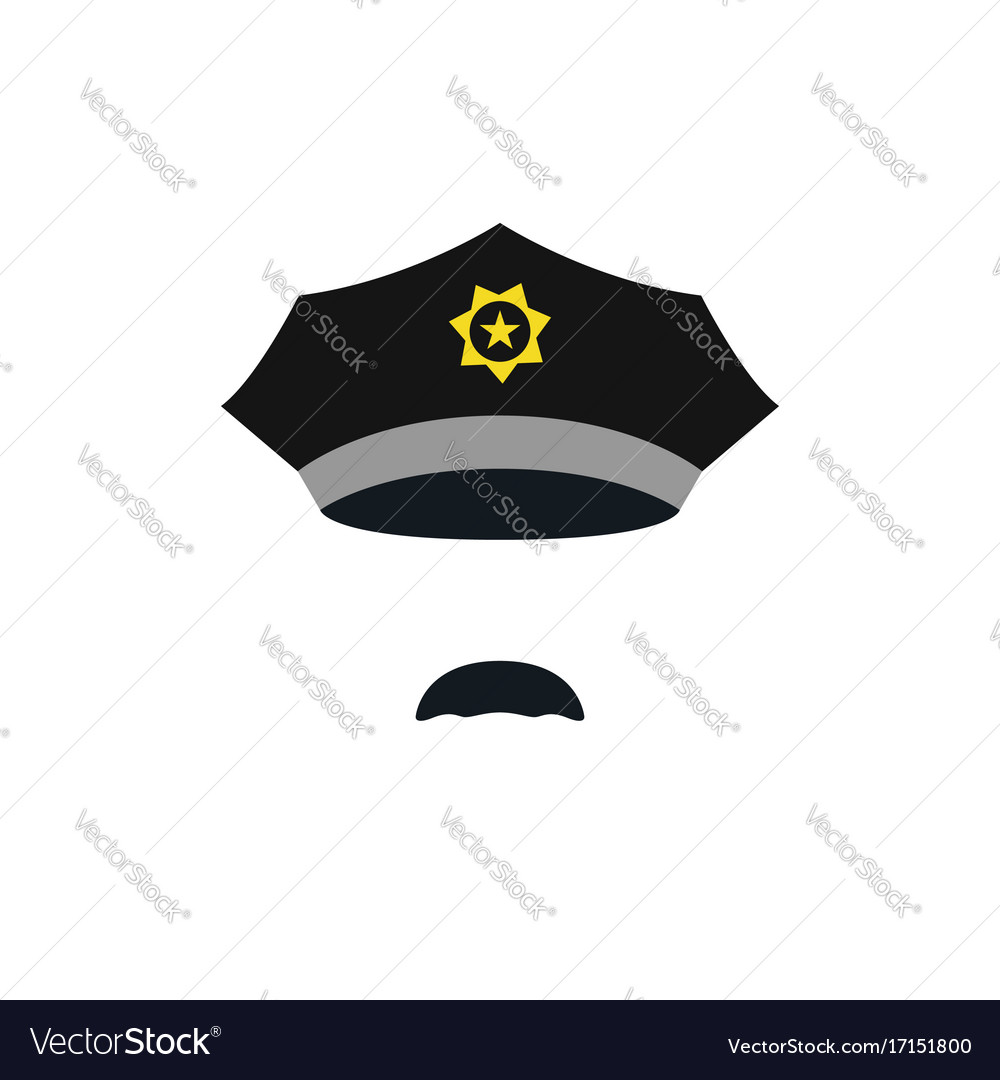 Head of policeman with cap people avatar