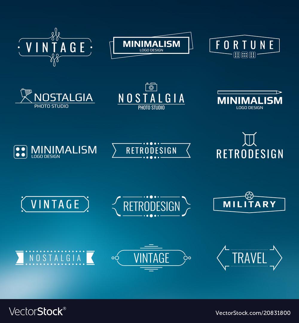 Minimal vintage logo templates retro style
