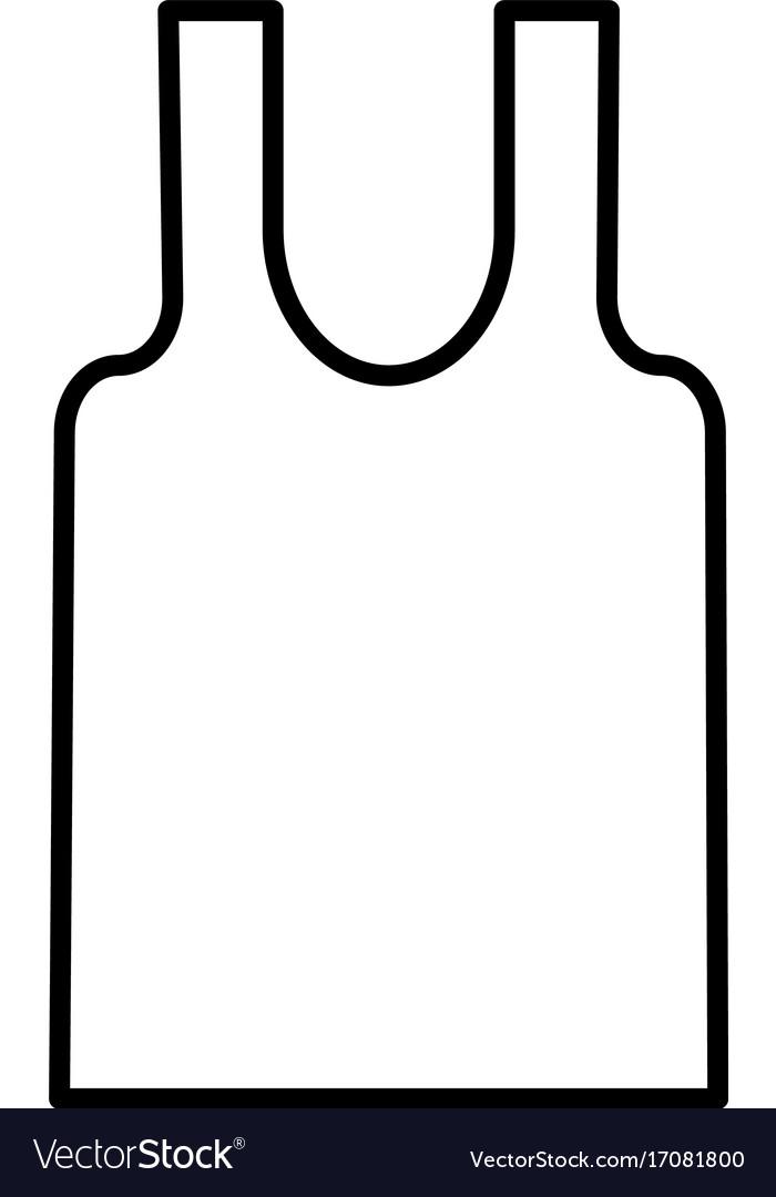 Sleeveless t-shirt icon