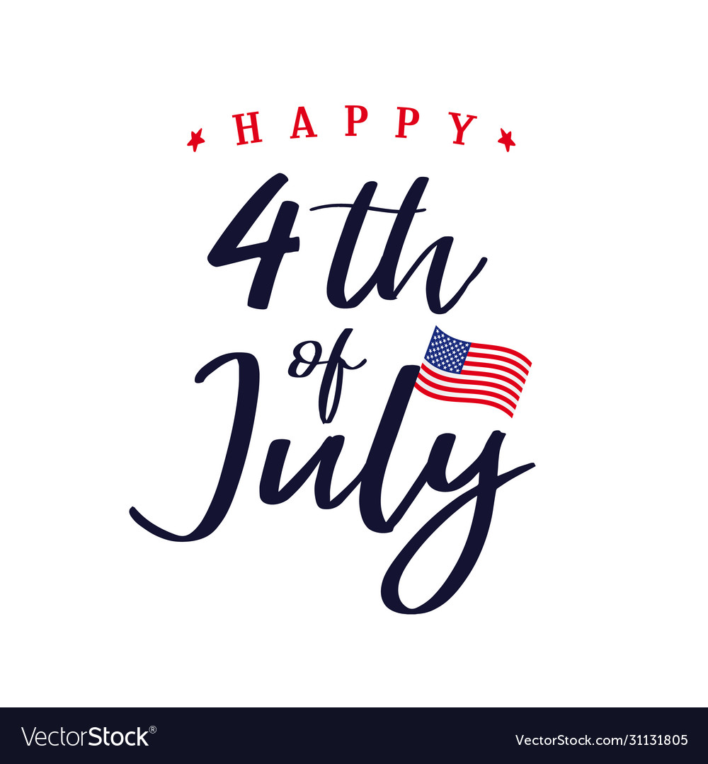 4 july independence day usa lettering