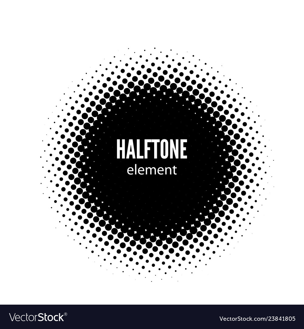 Abstract halftone design element black