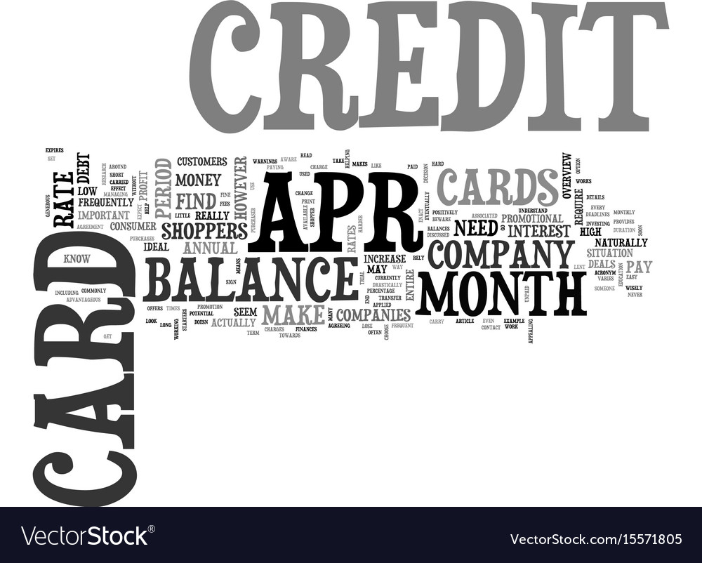 Apr credit cards true benefits text word cloud