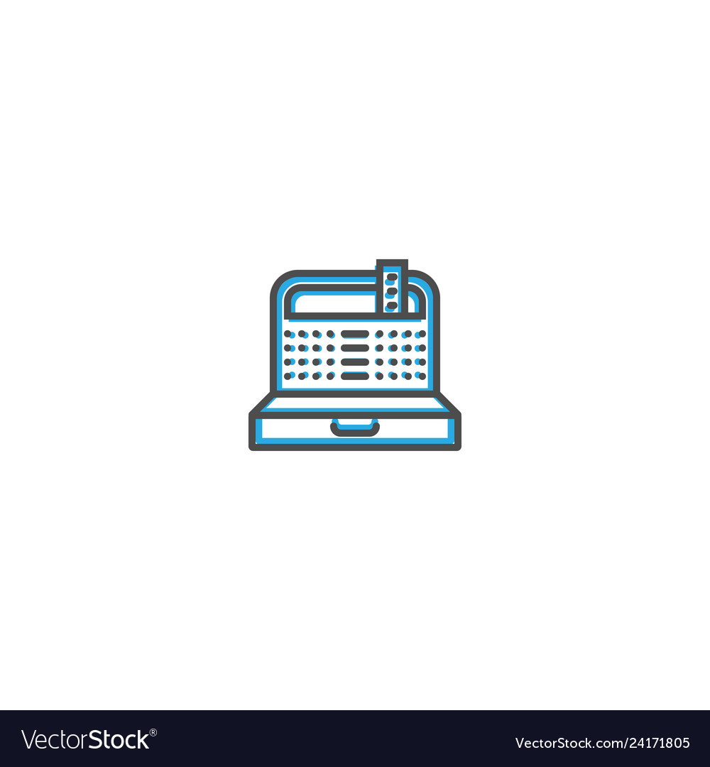 Cashier icon line design business icon