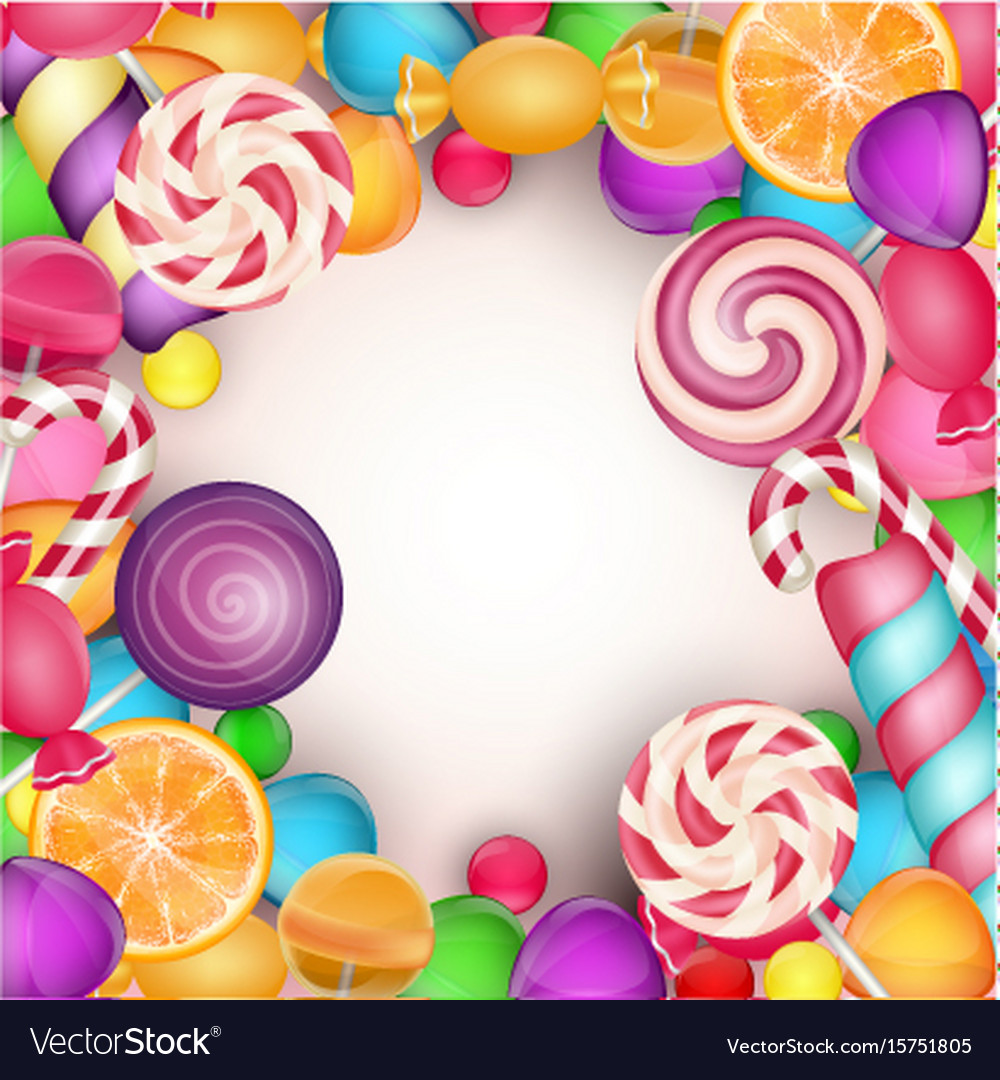 colorful candy background royalty free vector image