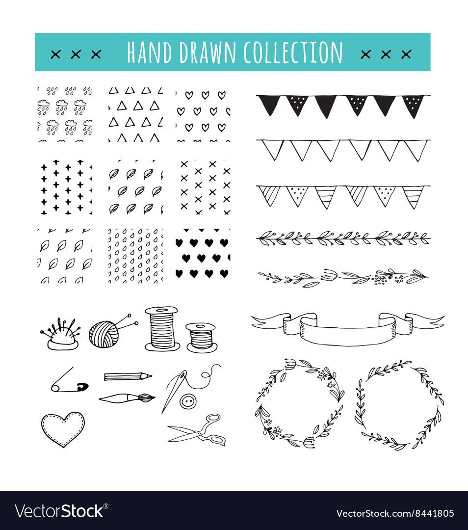 Handmade crafts workshop icons patterns