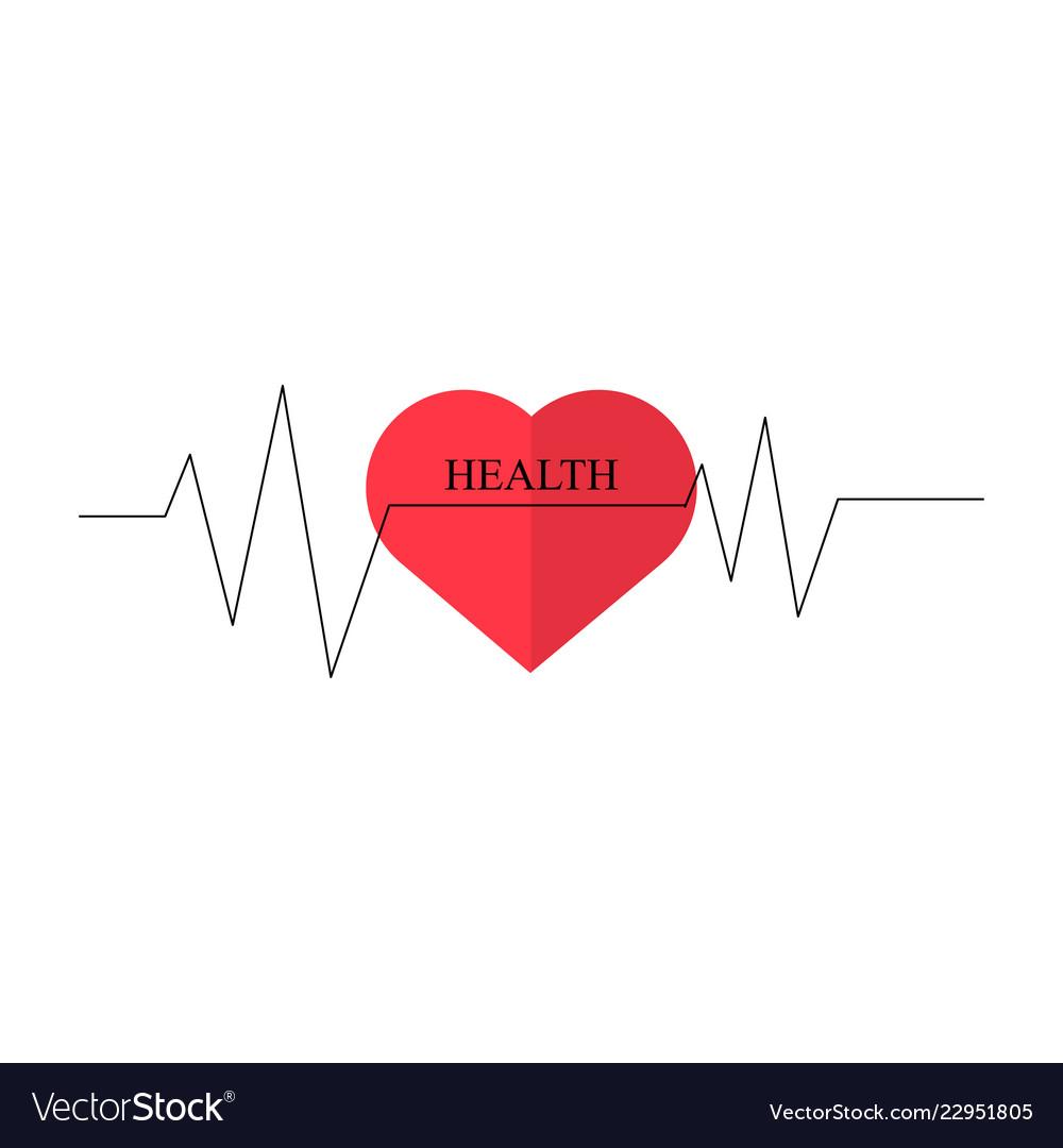 Heart as symbol of healthcare minimum design