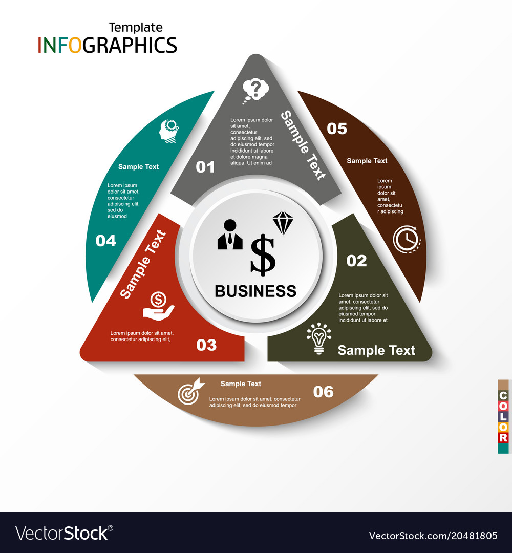 Infographic geometric graph business concept
