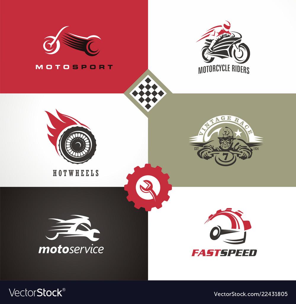Motorbikes symbols and emblems