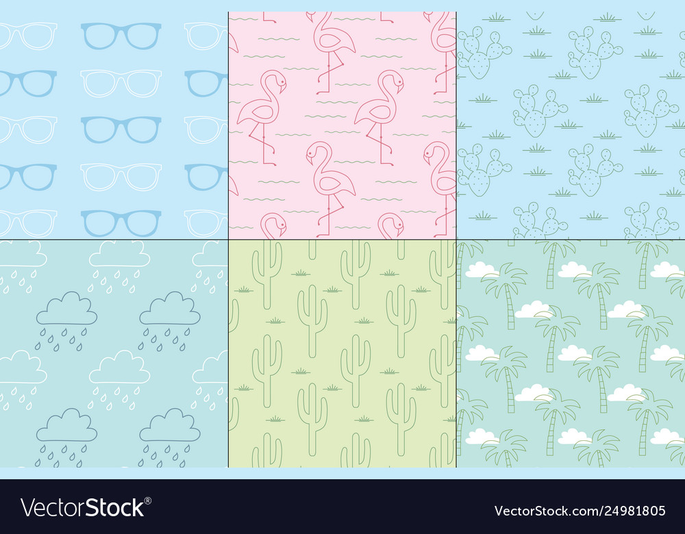 Pastel summer patterns