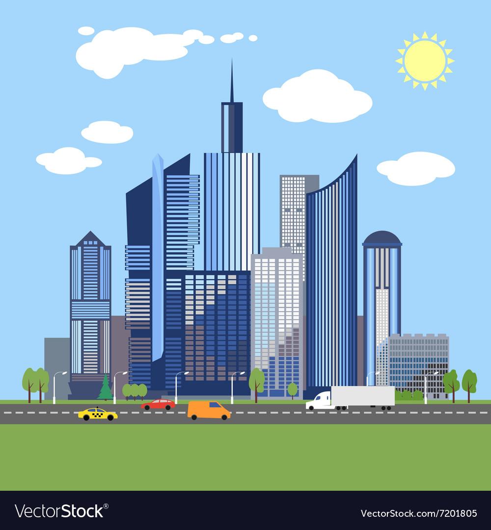 Stylish architecture design of modern city