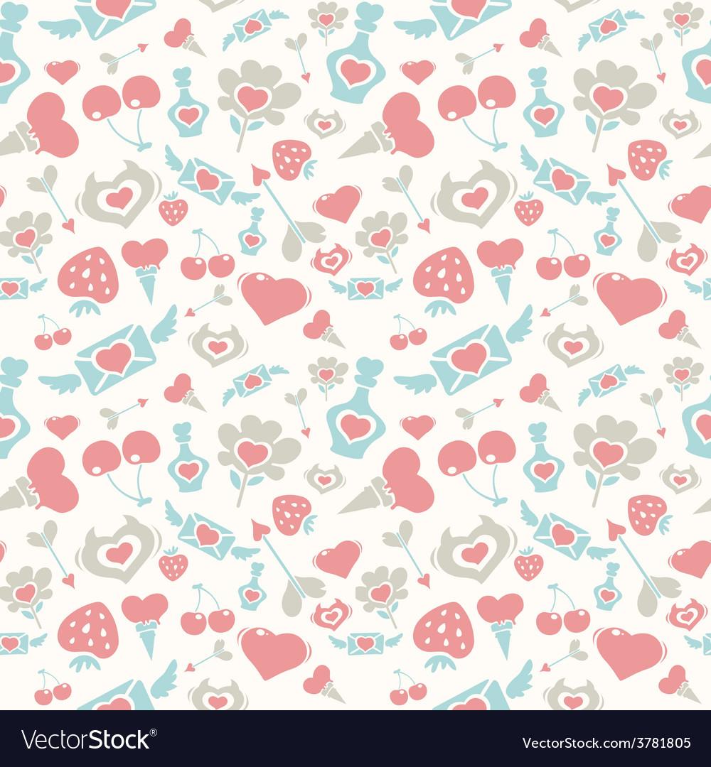 Sweet Pastel Valentine Pattern