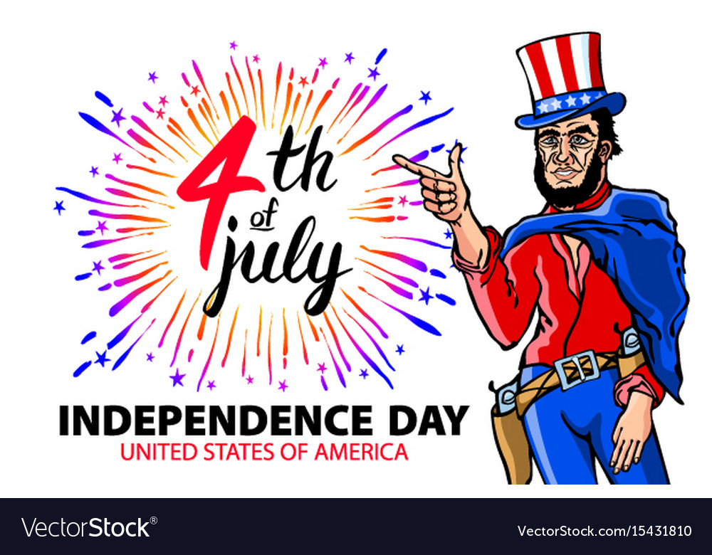 A men celebrating independence day poster