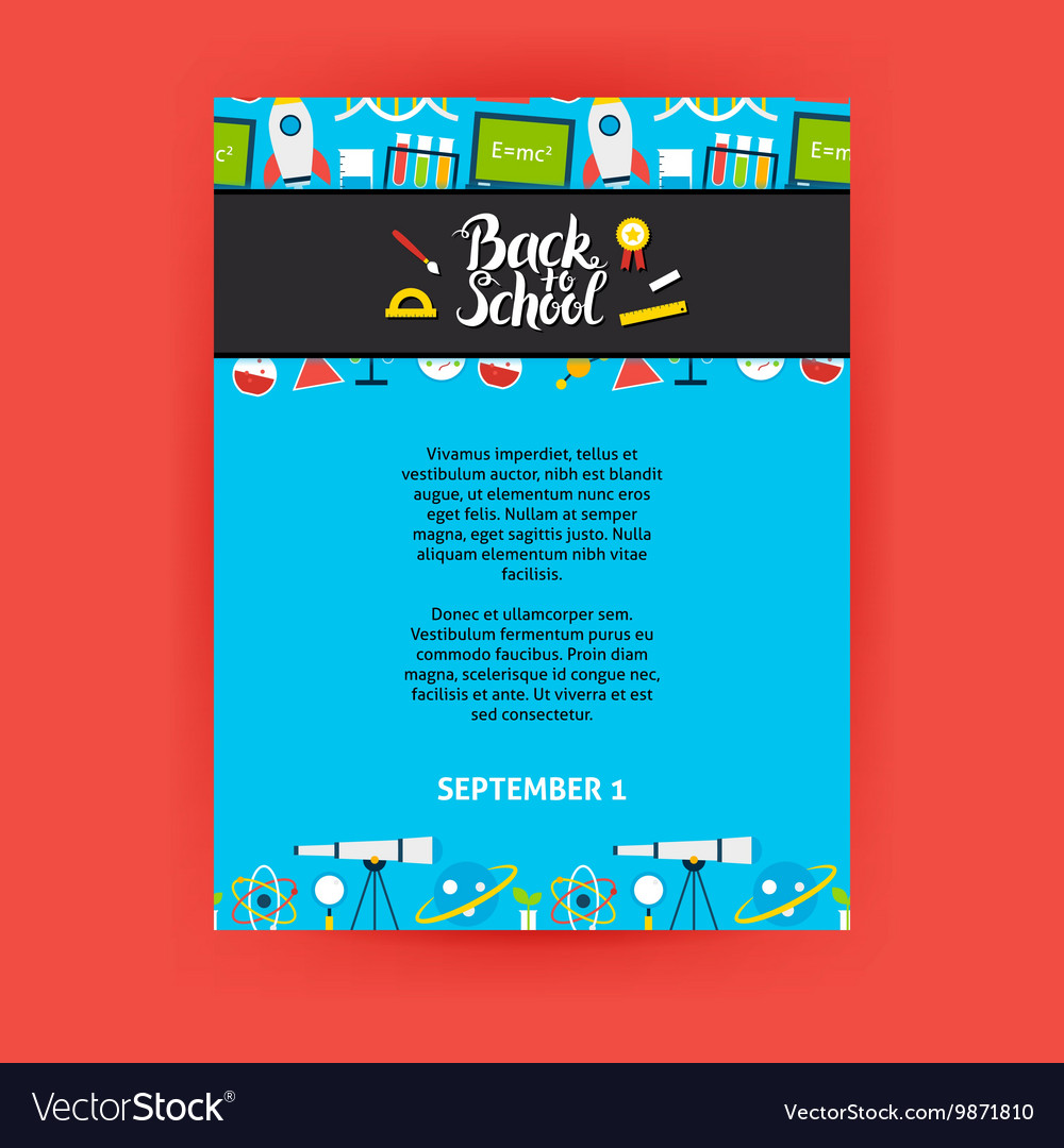Back to School Poster Template Royalty Free Vector Image