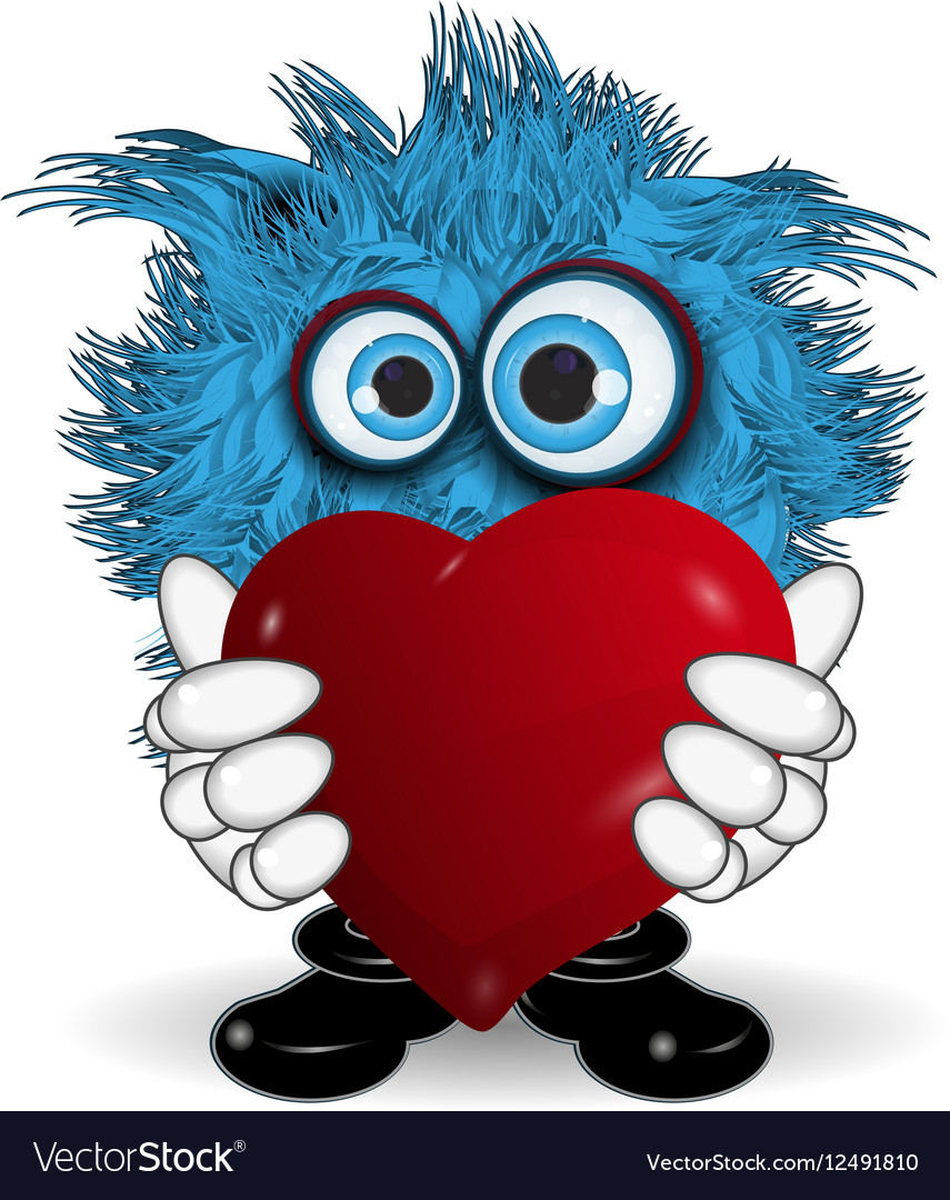Blue Monster Keeps Heart
