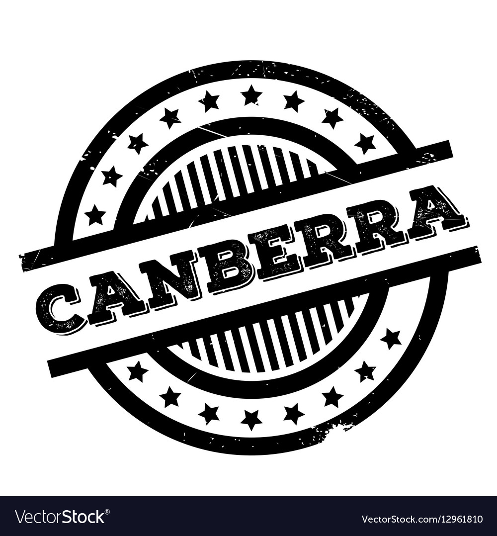 Canberra rubber stamp