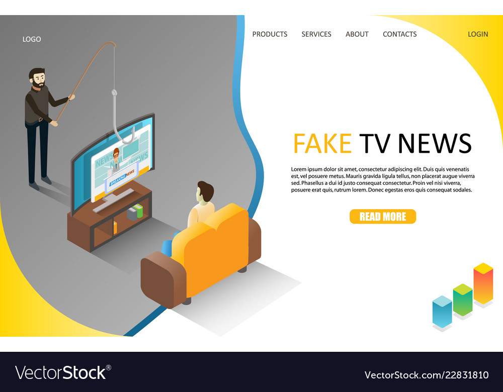 Fake tv news landing page website template