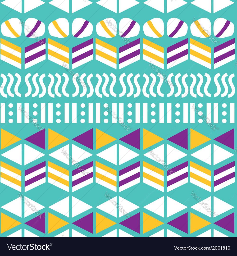 Geometric seamless pattern hand-drawing vector image