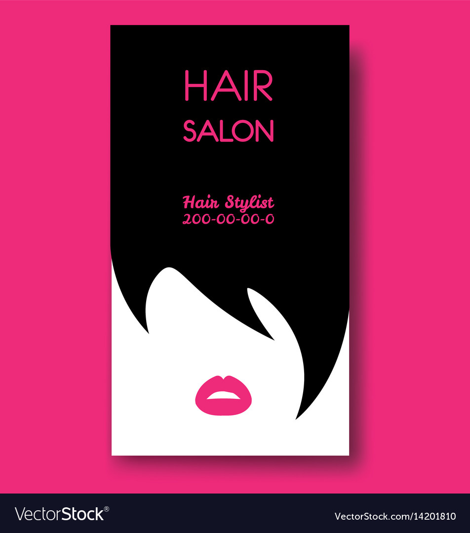 Hair salon business card templates with black hair hair salon business card templates with black hair vector image fbccfo