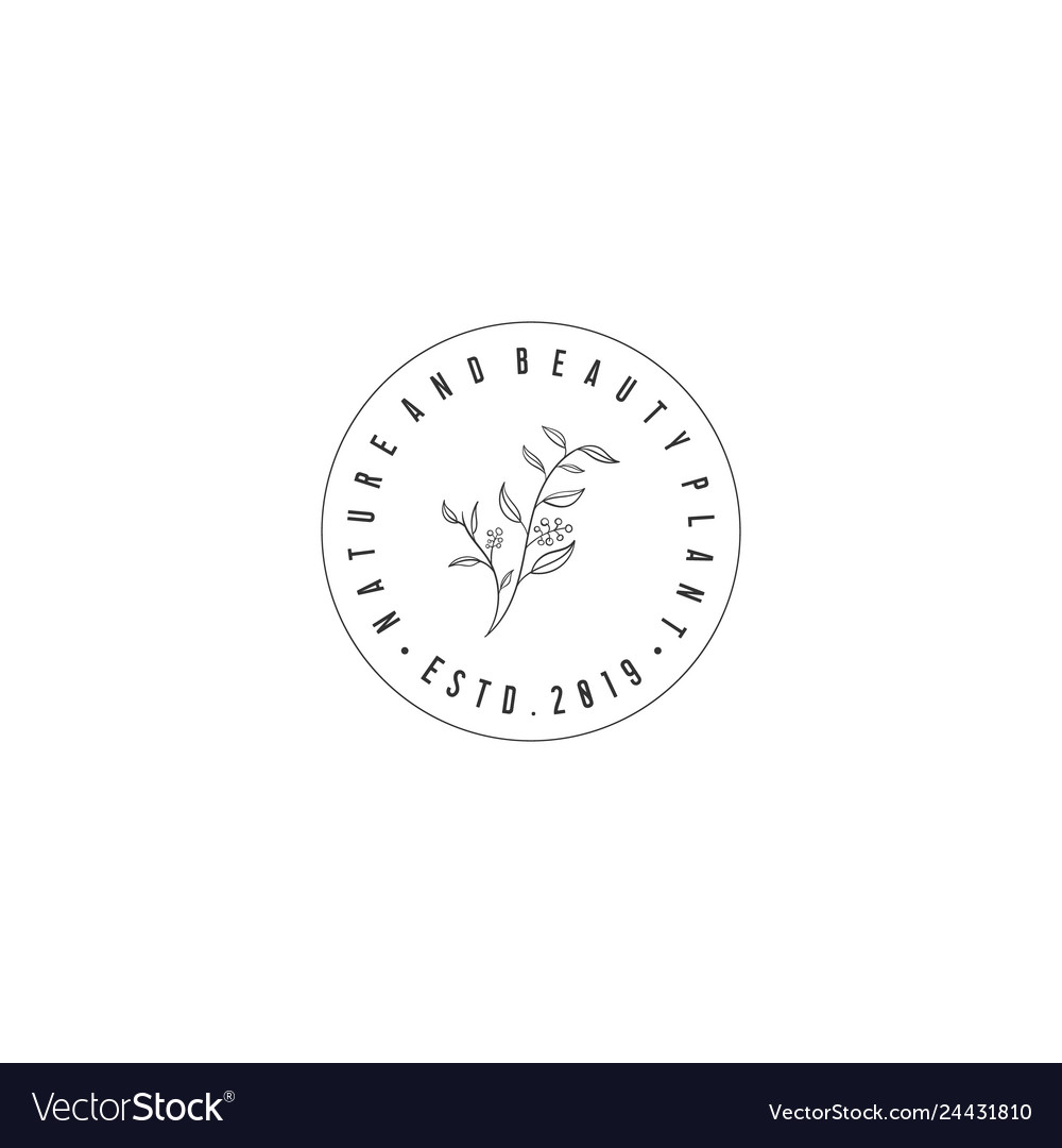 Hand drawn flower logo designs