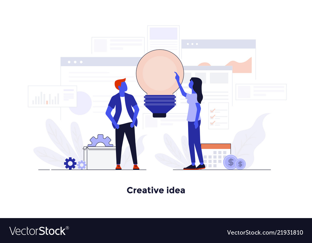 Modern flat design concept - creative idea