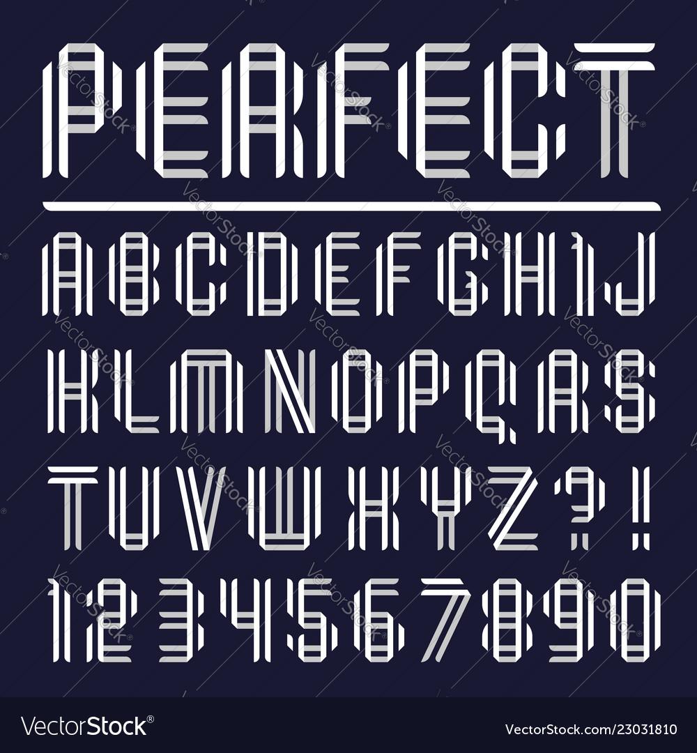 Modern font paper letters folded from black tape