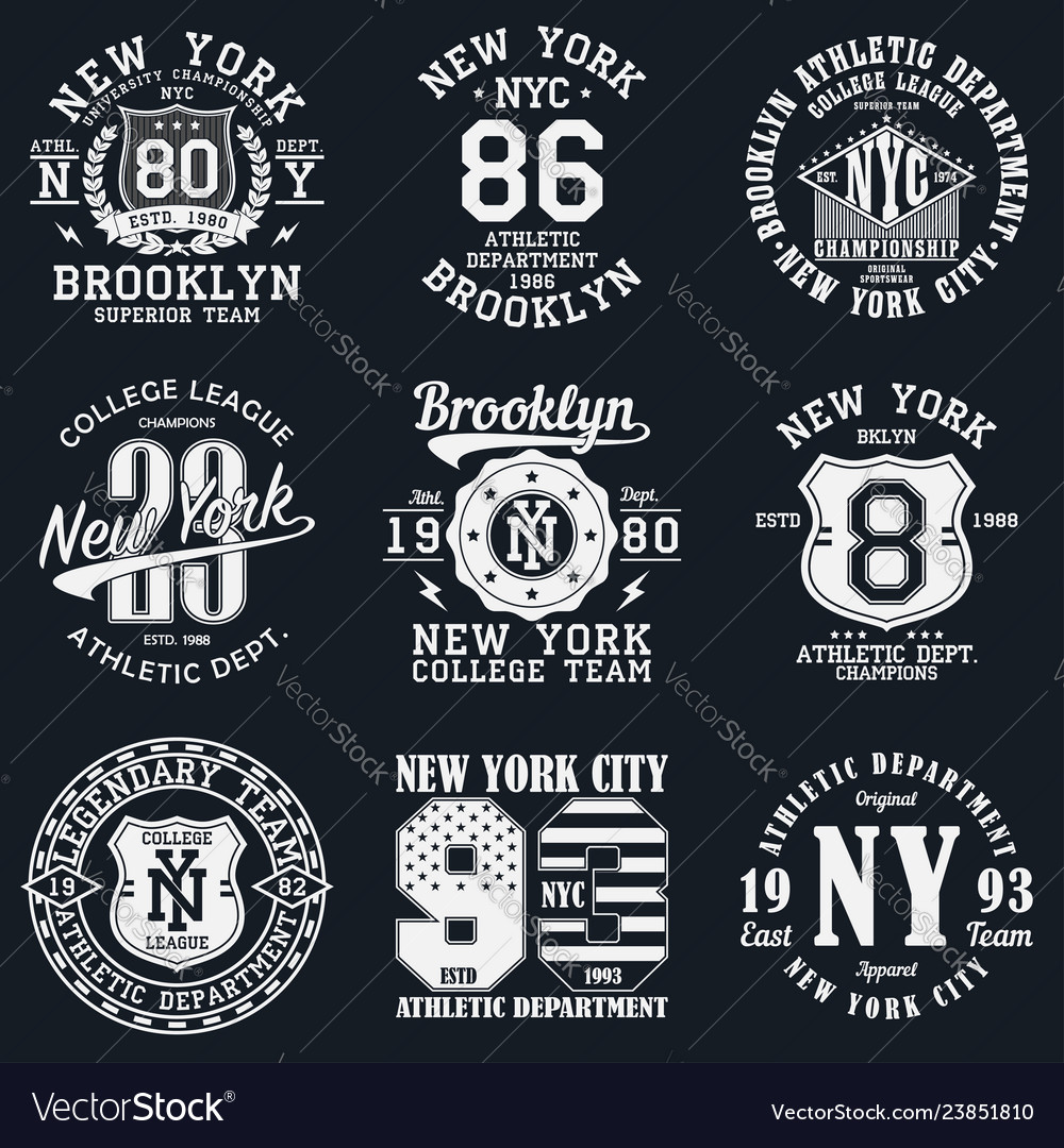 New york typography print
