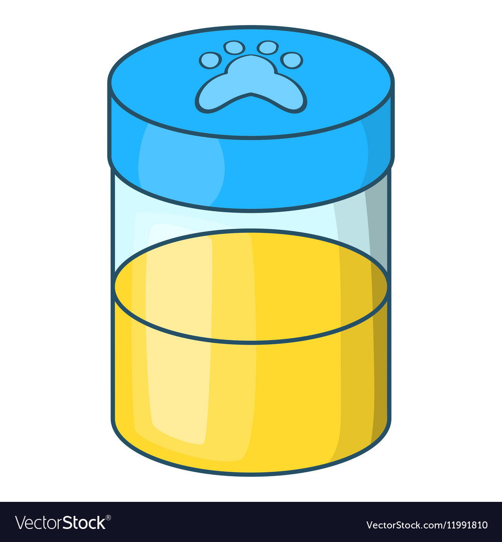 pets urine sample icon cartoon style vector image