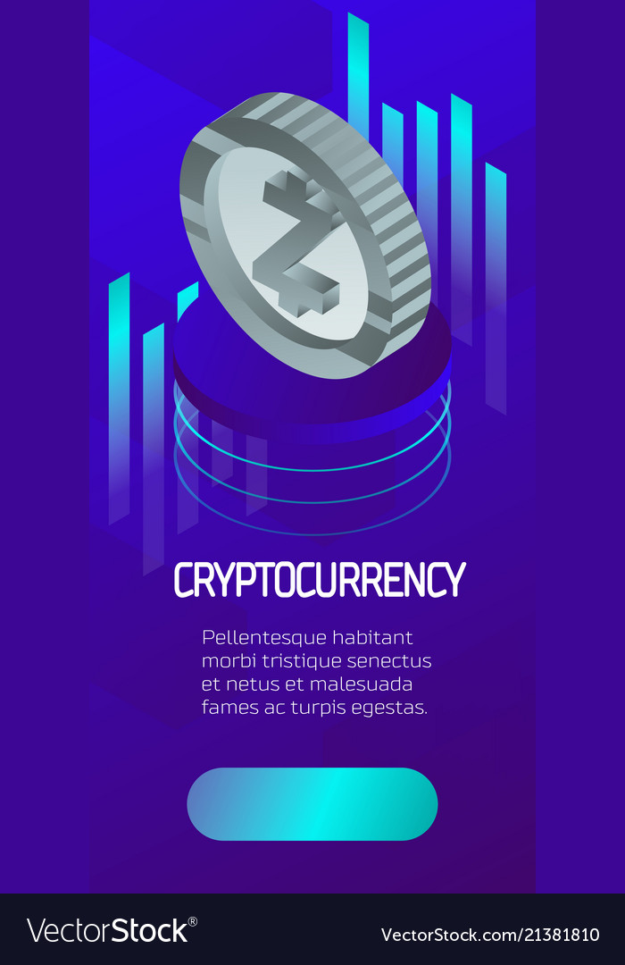 Statistics coin color isometric poster
