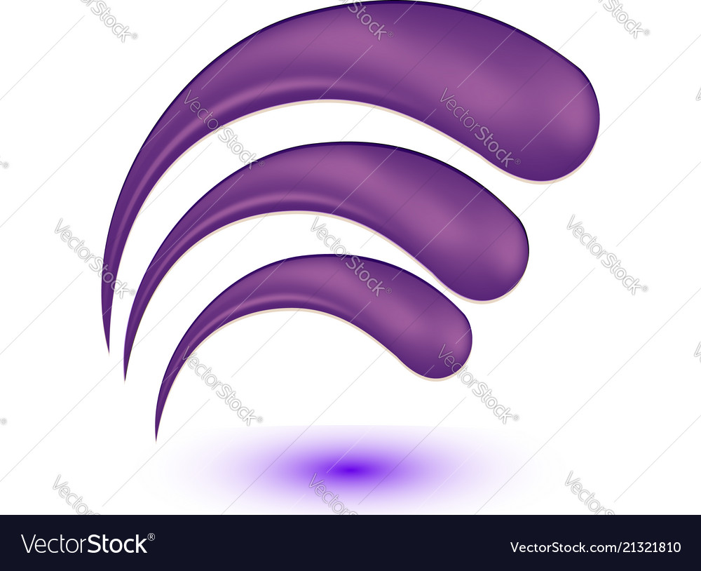 Swirly abstract floral icon