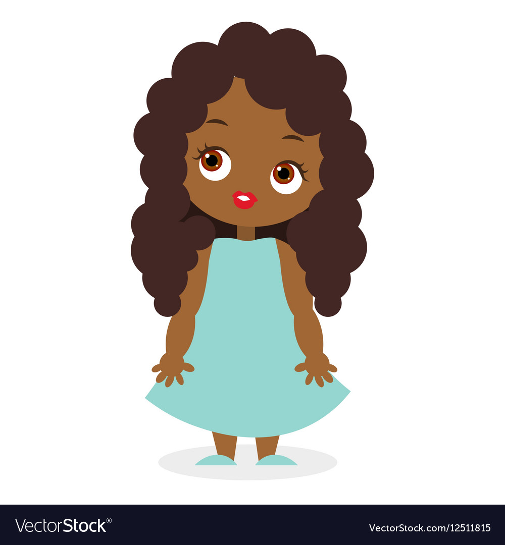 African American girl eps 10