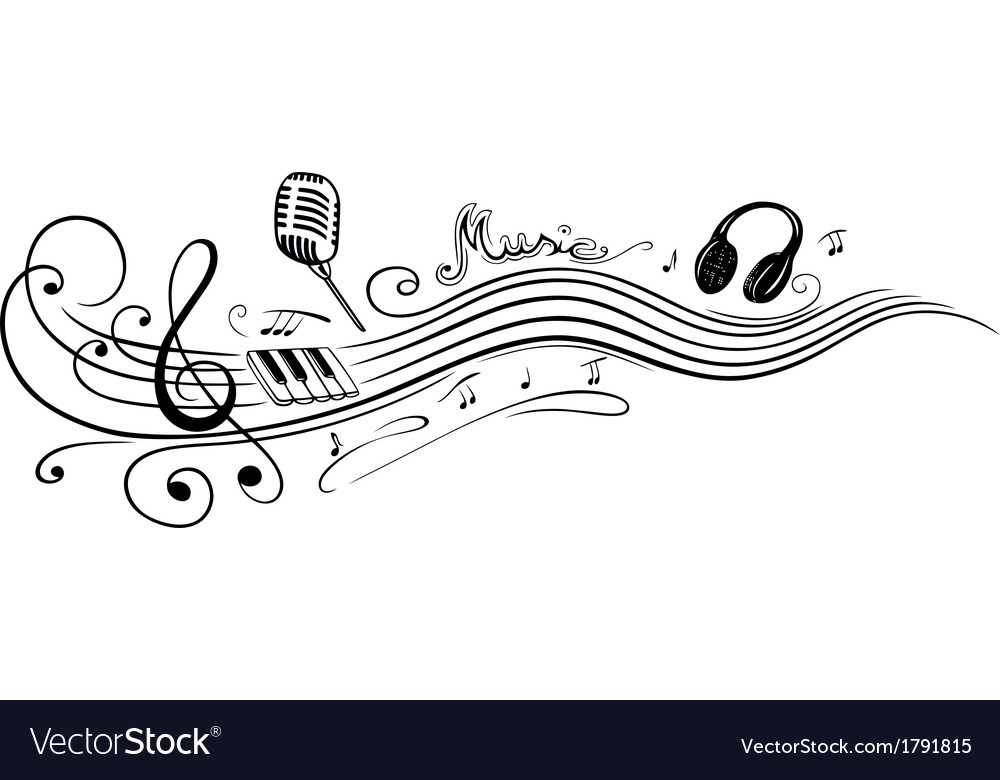clef music notes royalty free vector image vectorstock
