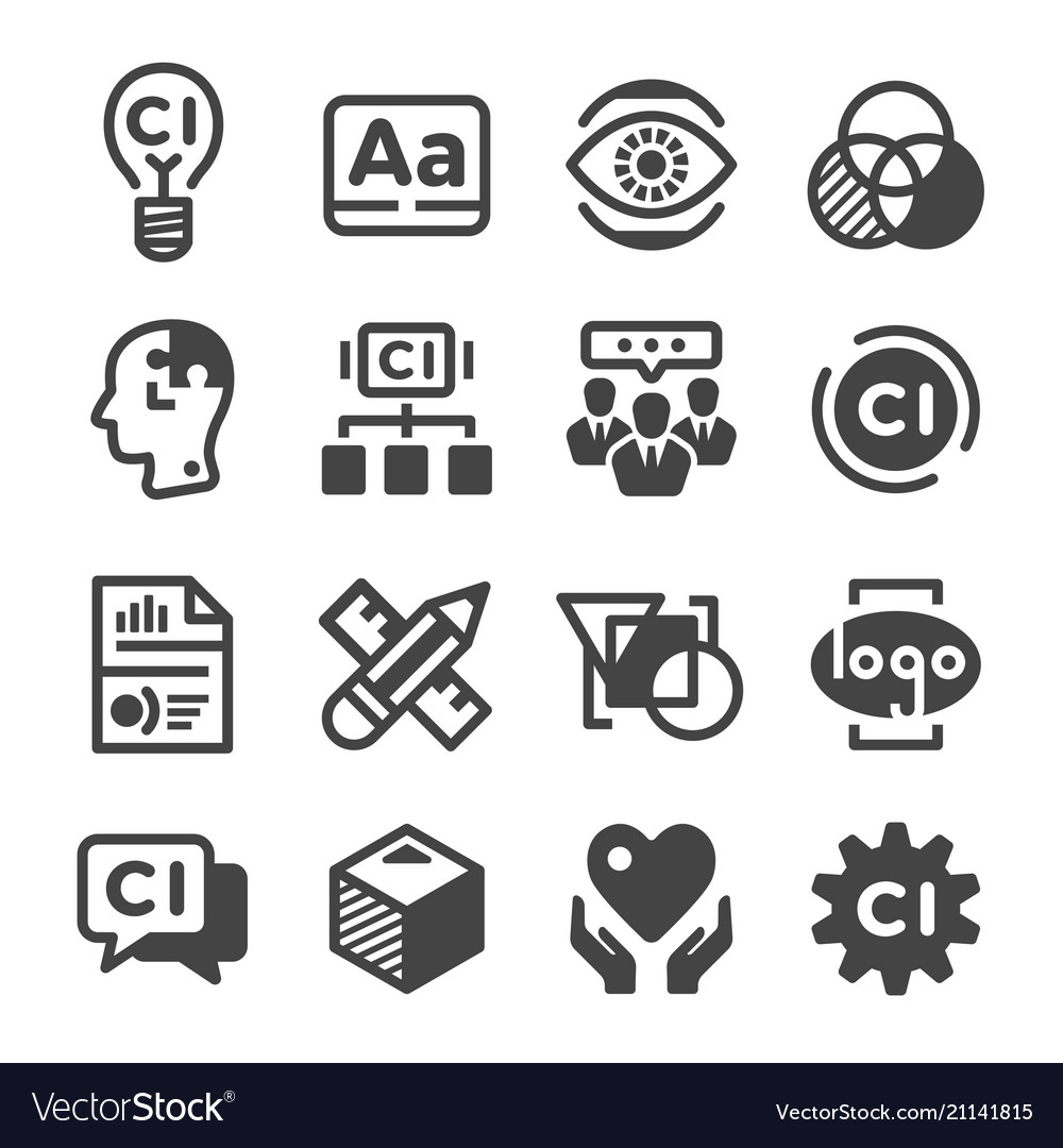 corporate identity icon royalty free vector image vectorstock