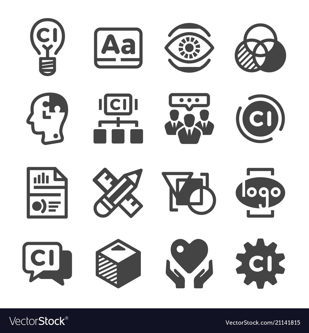 corporate identity icon royalty free vector image vectorstock