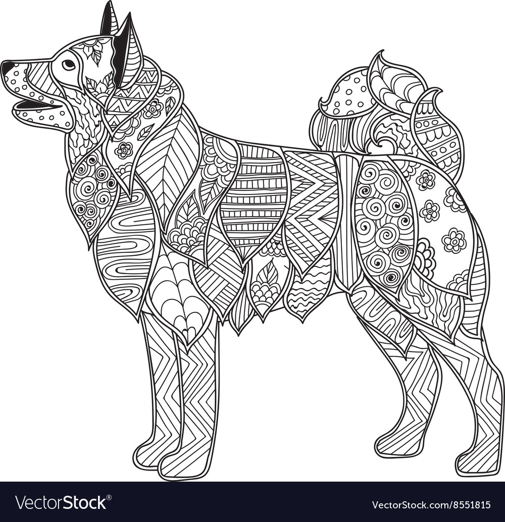 Dog for children : smiling dog - Dogs Kids Coloring Pages | 1034x1000