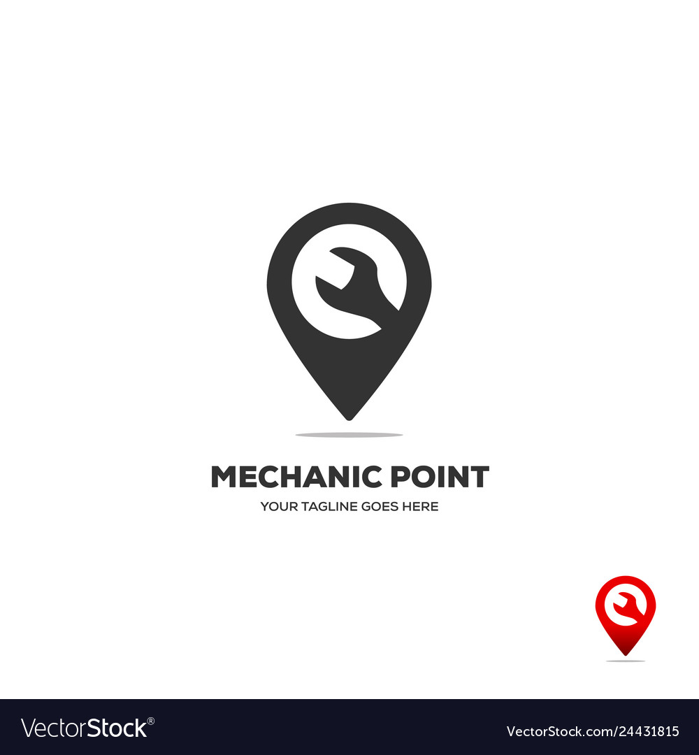 Gear and wranch map location navigation logo